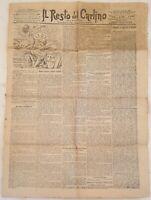 IL RESTO DEL CARLINO 1 GENNAIO 1897 ARGELATI ALDROVANDI ALDINI BACCHETTI LAFOLE