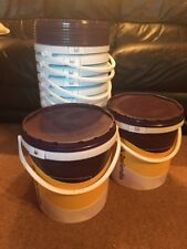 Stack Of 12x10Litre Plastic Buckets With Lids ( SPECIAL PRICE )