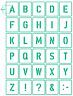 Buchstaben und Zeichen 5cm ● Schriftschablonen Nr.35 Set 30 einzelne Schablonen
