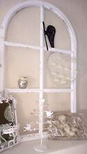 Deko Holz Fenster Fensterrahmen Rundbogenfenster Sprossen weiß Shabby Vintage100