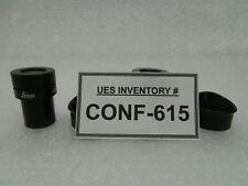 Leica 310564 15x W.F. Wide Field Microscope Eyepiece Set of 2 New Surplus