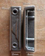 CAST IRON RIM LOCK DOOR KEEP 95mm ~ BRITISH MADE VICTORIAN RIMLOCK KEEPS ~ KP16