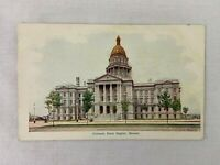 Vintage Postcard Colorado State Capital Building Denver