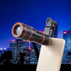 Clip-on 12x Optical Zoom HD Telescope Camera Lens For Universal Mobile Phone HF