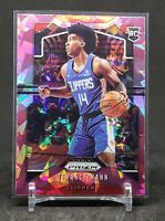 2019-20 Prizm Terance Mann RC, Rookie Pink Ice Refractor, LA Clippers
