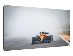 Lando Norris rain canvas wall art Wood Framed Ready to Hang XXL print