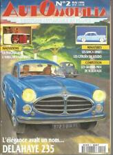 AUTOMOBILIA N°02 DELAHAYE 235 / PEUGEOT 204 / AMILCAR COMPOUND / SIMCA DINKY