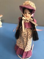 Bernadette Country Collectible Porcelain Doll By Russ Berrie #1600 With Tag EUC