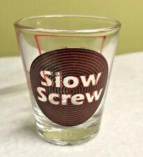 SLOW SCREW & Recipe Shot Glass Red Black Spiral Cocktail Barware EUC