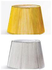 Lampenschirm Stofff D: 160mm Textil Schirm Steckschirm gold silber
