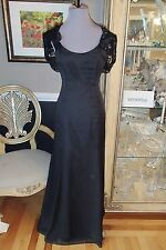 A1714 ALVINA VALENTA  9228 BLACK SZ 10 $310 MOTHER OF BRIDE FORMAL GOWN DRESS