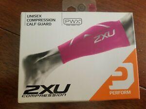 2XU Compression Calf Guards Pair Hot Pink / XL