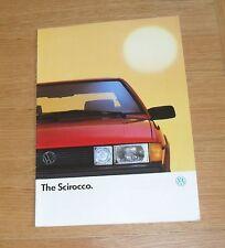 Volkswagen VW Scirocco Brochure 1989 - 1.8 GT & 1.8 Scala Injection