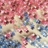 50PCS Transparent Mini Baby Dummies Pacifiers Baby Shower Party Games Favours