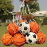 Storage Bag Football Basketball Draw Cord Mesh Sack Ball Carry Net For 10 Balls