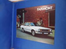 FORD 1979 FAIRMONT CAR SALES DEALER BROCHURE OPTIONS CHOICES COLORS MEASUREMENTS