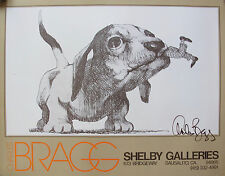 Charles Bragg MAN'S BEST FRIEND Hand Signed Lithograph from Shelby Galleries