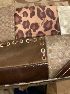 COACH Signature PATCHWORK Leather Tote Purse Bag