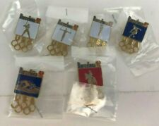 1992 Barcelona Olympics USA Lot 6 pins gymn equast swim soccer baseball basket