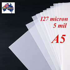 Stencil Film 10 sheets A5 Mylar: 127  micron for Airbrushing, Painting and Craft