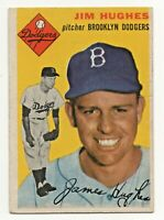 1954 Topps #169 Jim Hughes Brooklyn Dodgers