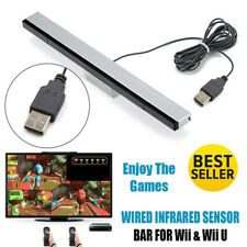 Sensor Bar Replace For Nintendo Wii & Wii U With Stand Wired Infrared Receiver.