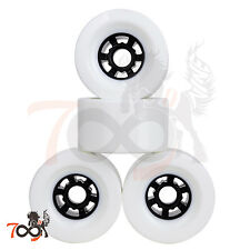 Cal 7 Pro 90mm 78A Cruiser Skateboard Wheels, Longboard Flywheel White (4pcs)