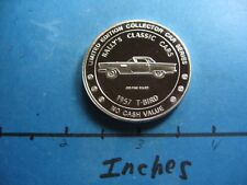 1957 T-BIRD FORD CLASSIC BALLY'S CLASSIC CAR 999 SILVER COIN RARE VERY COOL