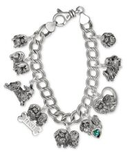 Pekingese Charm Bracelet Handmade Sterling Silver Dog Jewelry Pk-Cbr