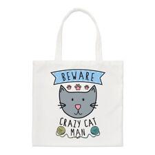 Méfiez-vous fou CHAT HOMME PETIT SAC FOURRE-TOUT - Drôle animal chaton épaule