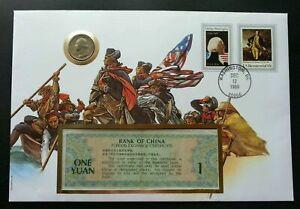 [SJ] USA George Washington Bicentennial 1989 FDC (banknote coin cover) *rare see