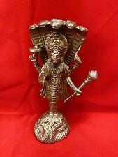 Brass metal hindu god lord vishnu 6 inch height USA Seller fast ship usa seller