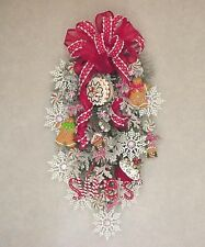 CHRISTMAS GINGERBREAD COOKIES SWEET TREATS PEPPERMINTS WALL DOOR SWAG WREATH