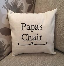 Laura Ashley Natural Austen Fabric PAPAS CHAIR Cushion Cover Embroidered
