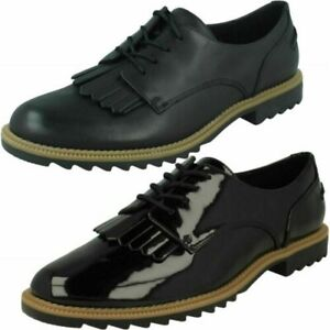 Ladies Clarks Lace Up Griffin Mabel Smart Shoes