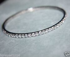 Ross Simons Sterling silver slip on eternity topaz bangle bracelet ADI