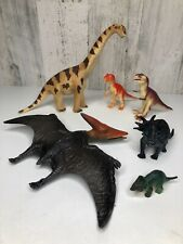 Dinosaur Mixed Figurine Toy Lot Of 6, 1 Schielch Brachiosaurus and 5 Unbranded