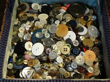 Vintage Lot Over 4 Pounds Old Sewing Buttons In Sewing Box Tn Quilter Estate