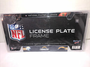 NFL CHARGERS License Plate Frame Chrome Plated  Sealed package New