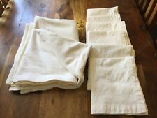 Ivory Thick Cotton Blend tablecloth & 6 napkins John Lewis rectangular 66 x 84in
