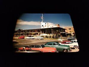 Original 1950s Kodachrome Slide - Jolly Roger Hotel Ft. Lauderdale Street Scene