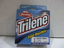 Berkley Trilene Cold Weather ice fishing line 3 lb test 110 yards electric blue