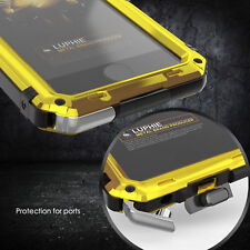 Luphie Waterproof Shockproof Gorilla Glass Metal Case Cover For i Phone 6 7 Plus