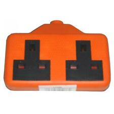 Omega 21086 Rubber Two Gang High Visibility Loose 13A Mains Power Socket BS1363A