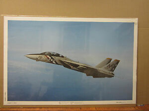 vintage Grumman F-14 Tomcat military Navy Poster Gost Squadron collectors 2402