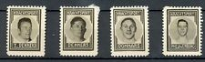 NEDERLAND 1937 ca  4 x  FOTO STAMPS  KRACHTSPORT THICK PAPER  FRAAI / PRACHT