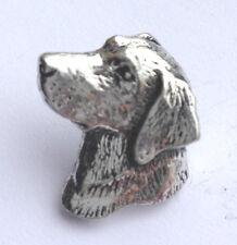 Small Labrador Retriever Head Hand Made in Pewter Lapel Pin Badge