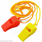Lot of 80 Plastic Whistle & Lanyard Emergency Survival Kits Hiking Boy Scouts