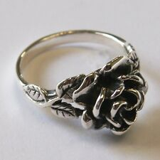 ROSE RING 925 STERLING SILVER THAILAND  flower hill  Size.US=10 UK-T