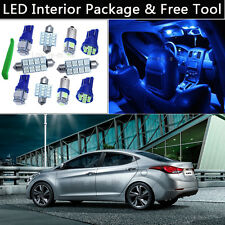 8PCS Bulbs Blue LED Interior Lights Package kit Fit 2011-2015 Hyundai Elantra J1